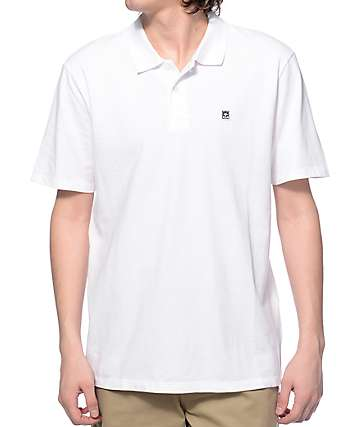 Obey Eighty Nine White Polo Shirt
