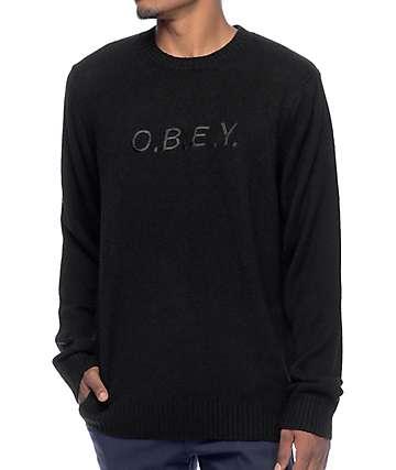 Obey Ellway Black Sweater