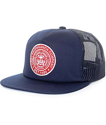 Obey Established 89 gorra trucker en azul