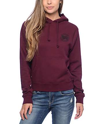 Obey Expect Resistance Burgundy Hoodie