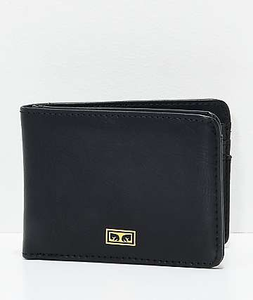 Obey Eyes Black Bifold Wallet