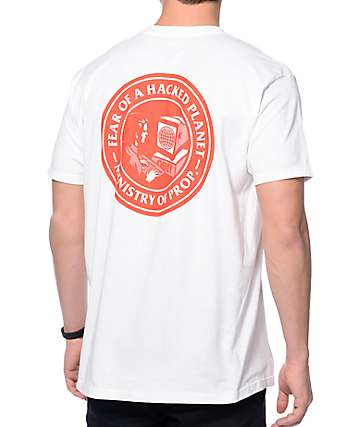 Obey Fear Of A Hacked Planet White T-Shirt