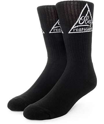 Obey Federated Black Crew Socks