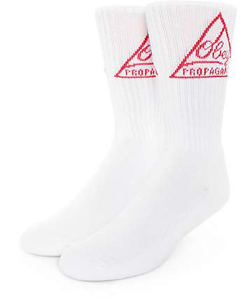 Obey Federated White Crew Socks