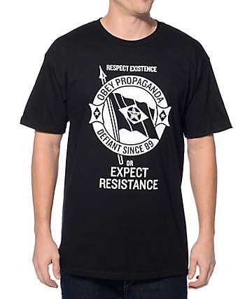 Obey Flag Of Dissent Black T-Shirt