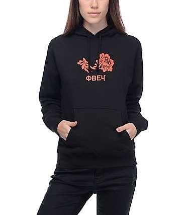 Obey Flower Black Hoodie