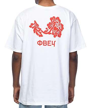 Obey Flower camiseta blanca