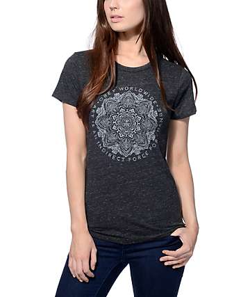 Obey Force For Change Heather Black T-Shirt