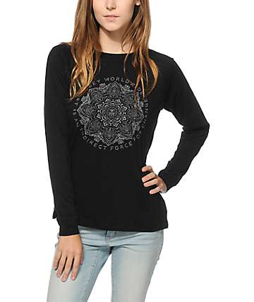 Obey Force For Change Long Sleeve Raglan Shirt