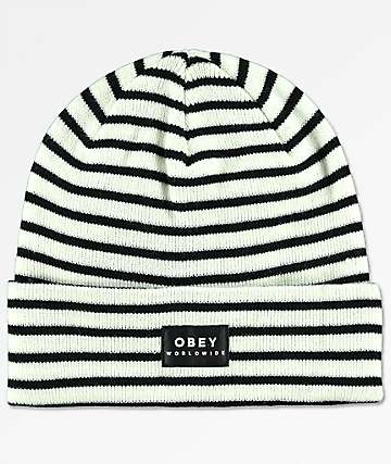 Obey Franklin Black & White Beanie