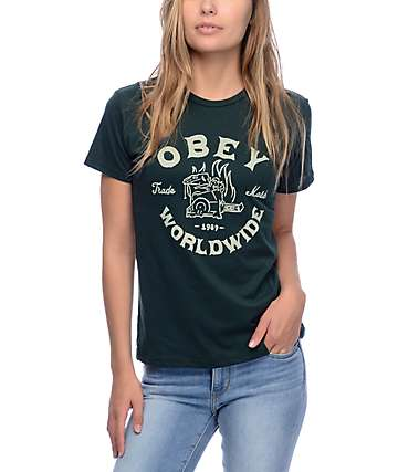 Obey Fresh Off Press Emerald T-Shirt