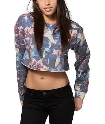 Obey Gemma Floral Crew Neck Sweatshirt