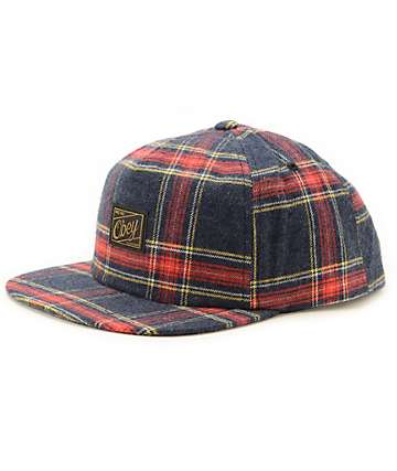Obey Glassgow Plaid Snapback Hat
