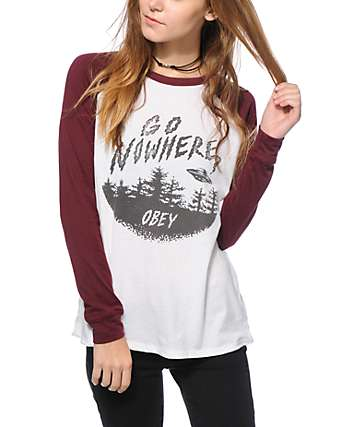 Obey Go Nowhere Long Sleeve Raglan Shirt