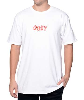 Obey Graveyard White T-Shirt