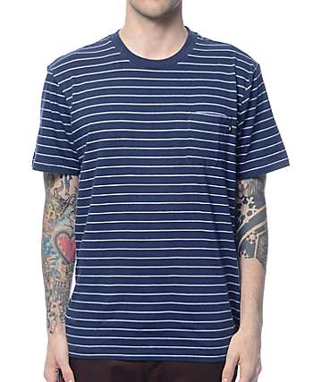 Obey Group Navy Stripe Pocket T-Shirt