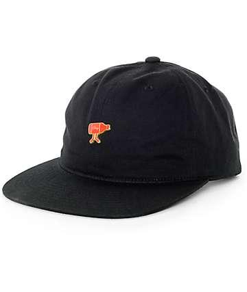 Obey Guzzle Black Strapback Hat