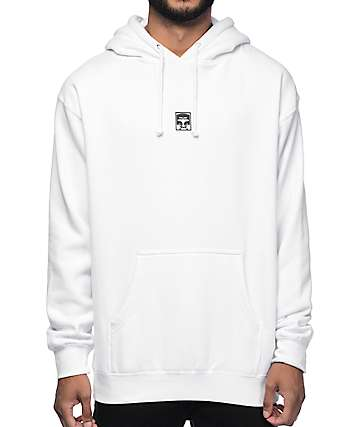 Obey Half Face White Hoodie