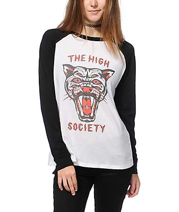 Obey High Society Long Sleeve Raglan Shirt
