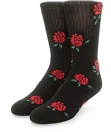 Obey Hightime Black Crew Socks