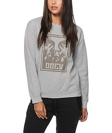 Obey Hold Up Crew Neck Sweatshirt