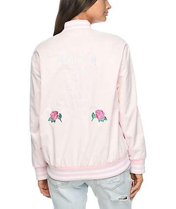Obey Hooligans chaqueta universitaria en rosa