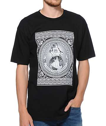 Obey Hostile Take Over Black T-Shirt