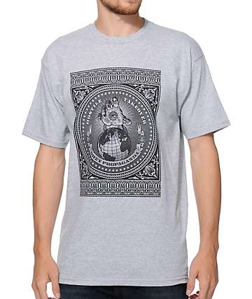 Obey Hostile Take Over Heather Grey T-Shirt