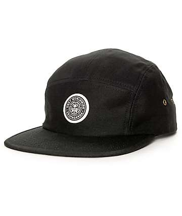 Obey Icon Black 5 Panel Hat