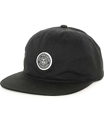 Obey Icon Black Strapback Hat
