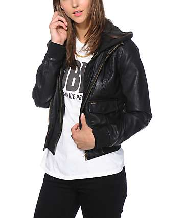 Obey Jealous Lover Vintage Black Bomber Jacket