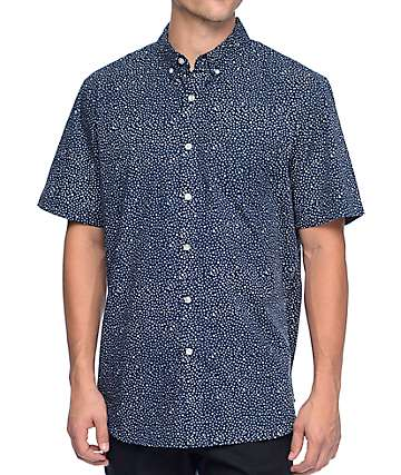 Obey Journey Woven Blue Shirt