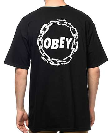 Obey Jumble Chain Black T-Shirt