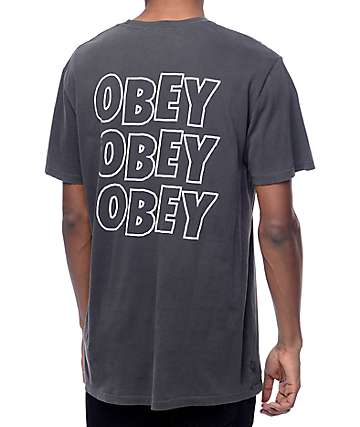 Obey Jumble Lo-Fi Dusty Black T-Shirt