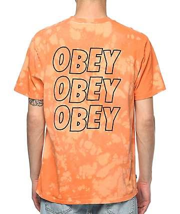 Obey Jumble Lofi Orange Bleach T-Shirt