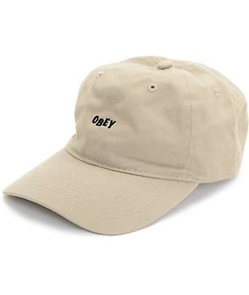 Obey Jumble gorra béisbol en color caqui
