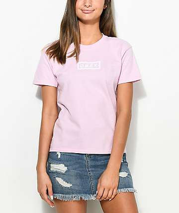 Obey Labour Of Love Chain camiseta rosa