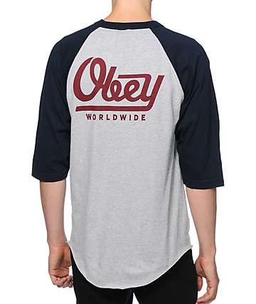 Obey Le Worldwide camiseta de béisbol