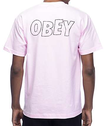 Obey Lo-Fi Light Pink T-Shirt