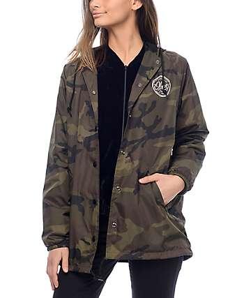 Obey MFG Camo chaqueta entrenador con capucha