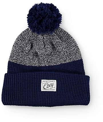 Obey Madison Indigo Pom Beanie