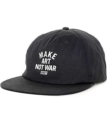 Obey Make Art Not War Black Baseball Hat