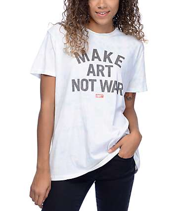 Obey Make Art Not War Tie Dye Classic T-Shirt