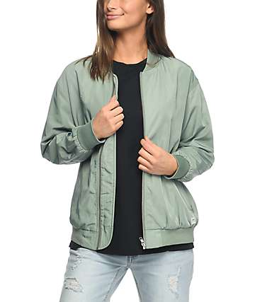 Obey Mako Sage Green Bomber Jacket