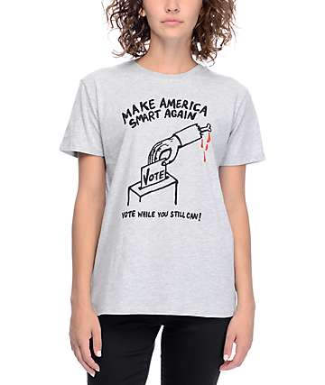 Obey Masa Broken Bone Rock The Vote Grey T-Shirt