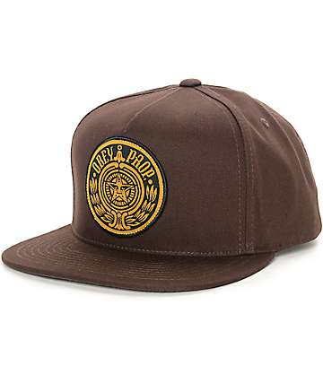 Obey Maximus Brown Snapback Hat