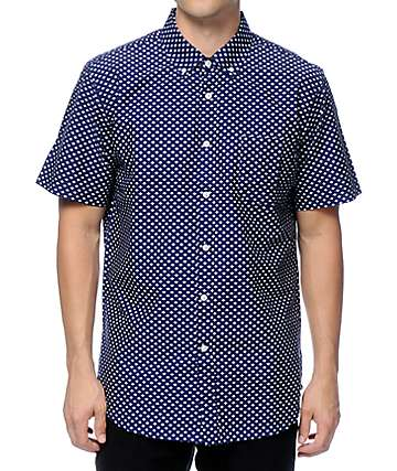 Obey Medina Blue Button Up Shirt