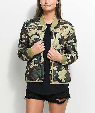 Obey Mercy Camo Bomber Jacket