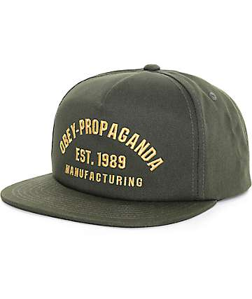 Obey Mfg Est 1989 Forest Green Snapback Hat