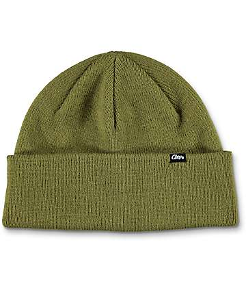 Obey Mill Army Green Beanie